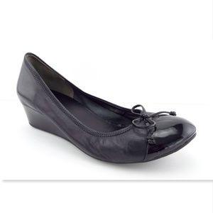 COLE HAAN Nike Air Black Cap Toe Ballet Wedges 9.5